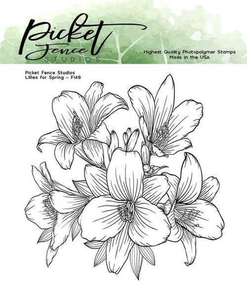 Picket Fence Studios Lilies for Spring Stamp