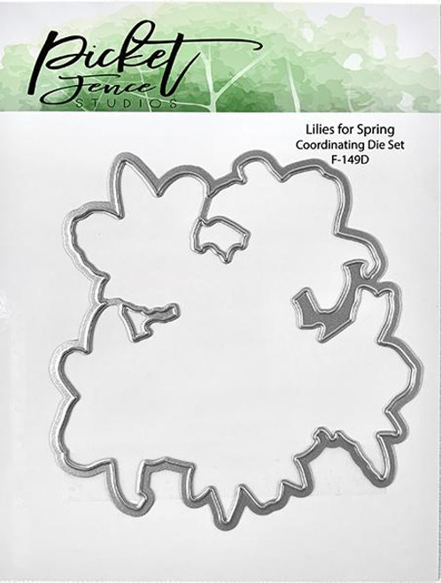 Picket Fence Studios Lilies for Spring Coordinating Die