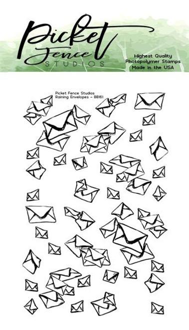 Picket Fence Studios Raining Envelope Stamp