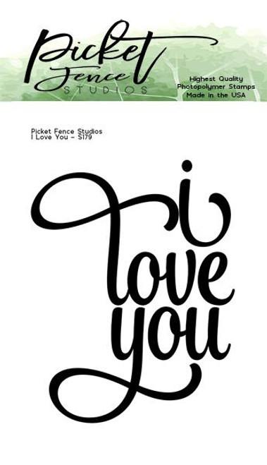 Picket Fence Studios I Love You Stamp