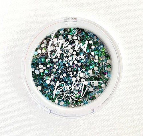 Picket Fence Studios Oceans of Green Gem Mix