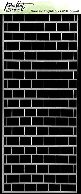 Picket Fence Studios Slim Line English Brick Wall Stencil