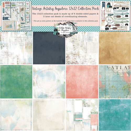 """49 & Market 12"""" x 12"""" Collection Pack Vintage Artistry Anywhere"""
