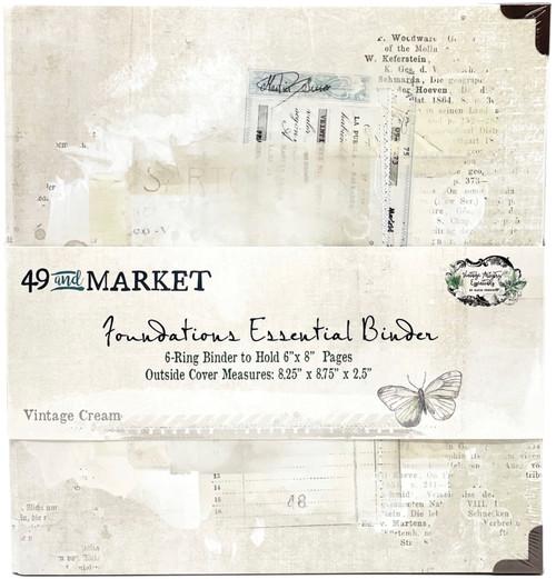 49 & Market Foundations Essential Binder - Vintage Cream