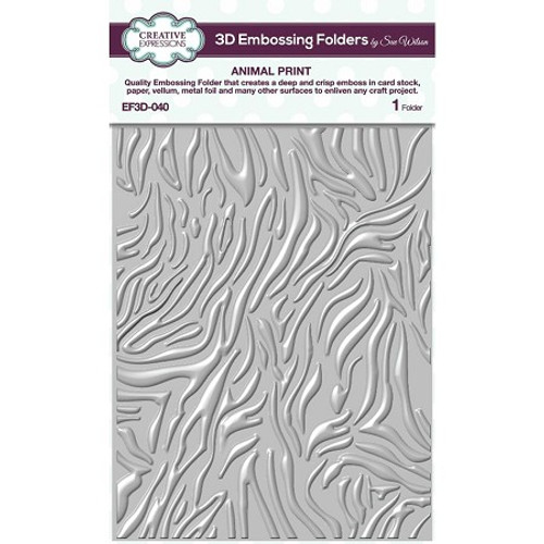 Creative Expressions Animal Print 3D Embossing Folder