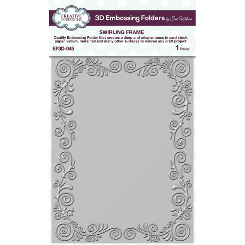 Creative Expressions Swirling Frame 3D Embossing Folder