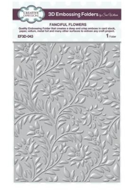 Creative Expressions Fanciful Flowers 3D Embossing Folder
