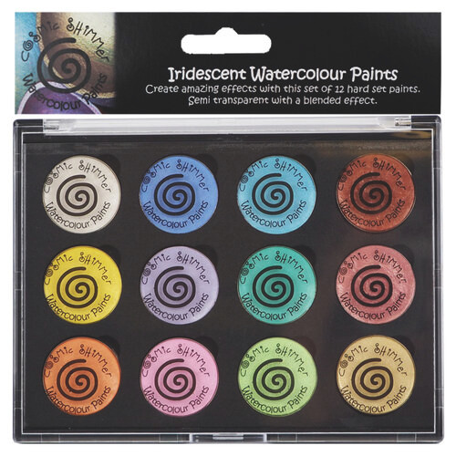 Creative Expressions Cosmic Shimmer Iridescent Watercolor Palette Set 8 Perfect Pastels