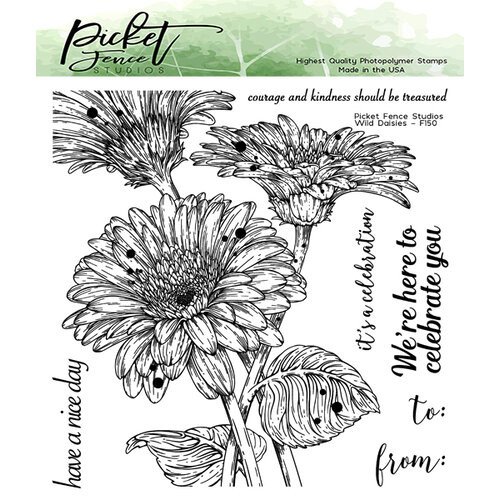 Picket Fence Studios 6 x 6 Wild Daisies Stamp Set
