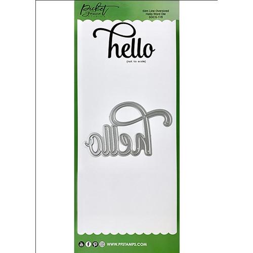 Picket Fence Studios Slim Line Oversized Hello Word Die
