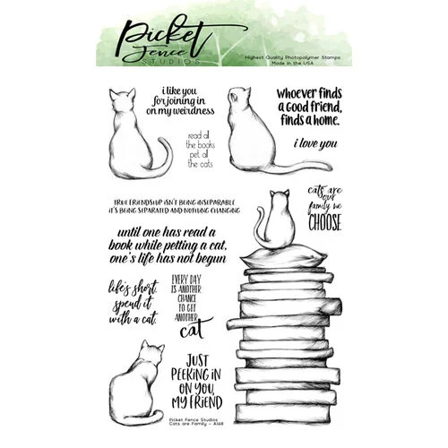Picket Fence Studios Cats are Family Stamp Set