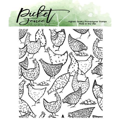 Picket Fence Studios More Hot Chicks Stamp Set