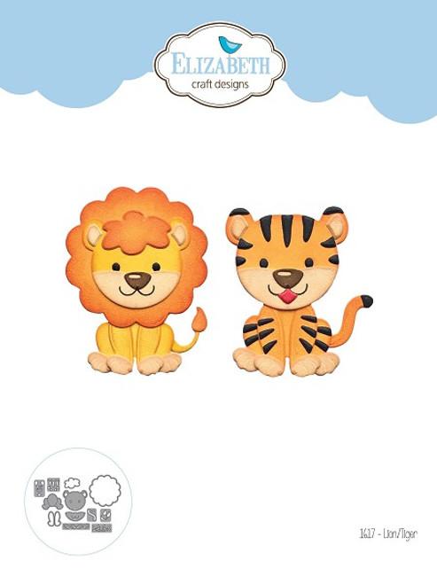 Elizabeth Craft Metal Die Lion Tiger