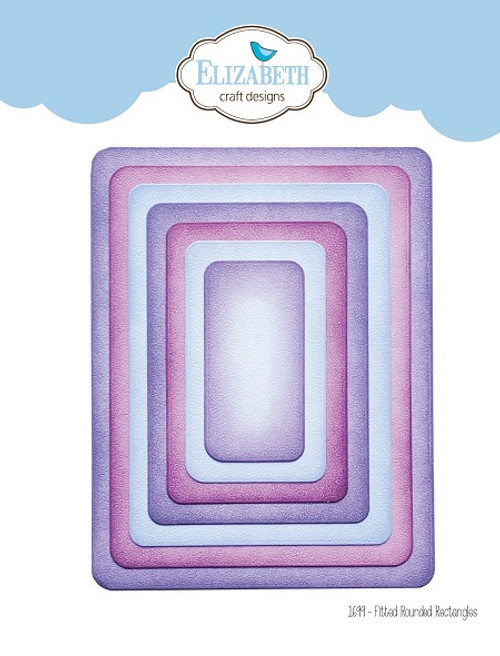 Elizabeth Craft Metal Die Fitted Rounded Rectangles