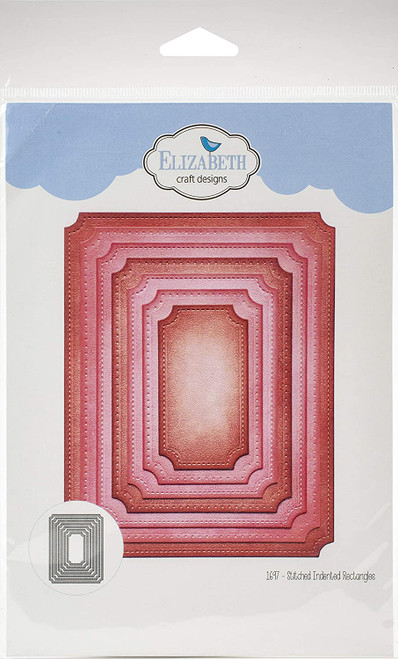 Elizabeth Craft Metal Die Stitched Indented Rectangles