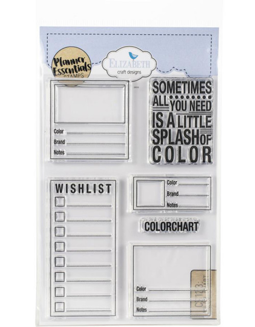 Elizabeth Craft Planner Essentials Stamps Color Chart