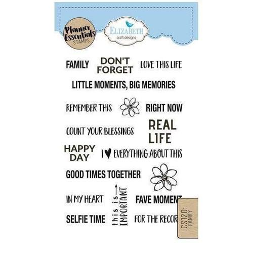 Elizabeth Craft Planner Essentials Stamps Family