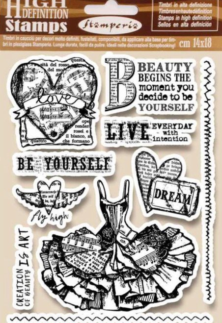 Stamperia HD Natural Rubber Stamp Fly High