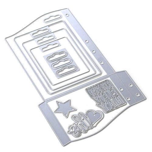 Elizabeth Craft Planner Essentials  30 Wave Pocket Die Set