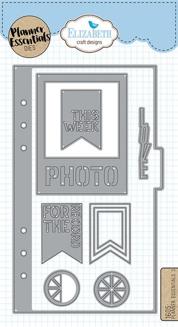 Elizabeth Craft Planner Essentials  3 Die Set