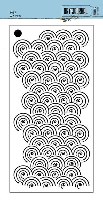 Elizabeth Craft Waves Stencil