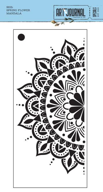 Elizabeth Craft Spring Flower Mandala Stencil