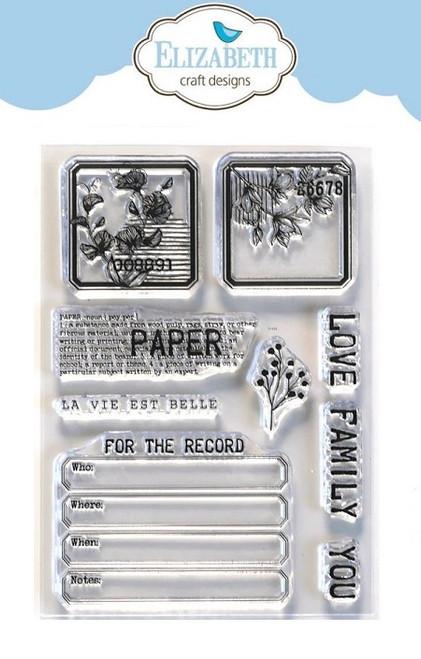Elizabeth Craft Planner Essentials Stamps Paper Love