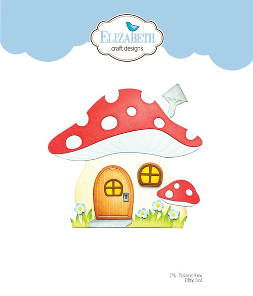 Elizabeth Craft Metal Die Mushroom House Folding Card