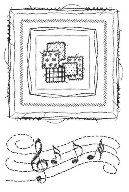 49 and Market Gabi's Square Stitch Stamp Set