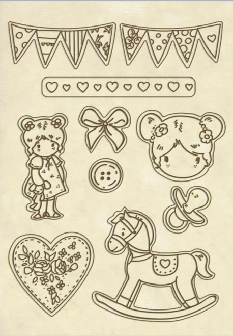 Stamperia Wooden Shapes A5 Little Girl