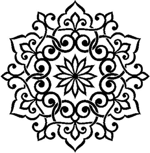 Stamperia Thick Stencil Mandala Lace
