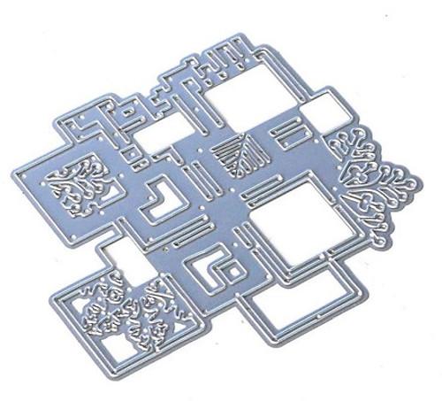 Elizabeth Craft Cubic Background Die Set