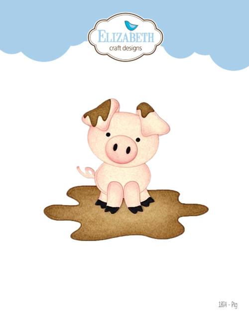 Elizabeth Craft Pig Die Set