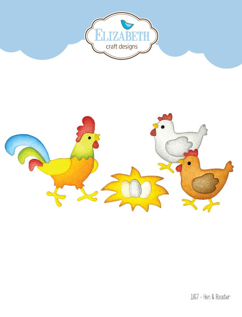 Elizabeth Craft Hen and Rooster Die Set