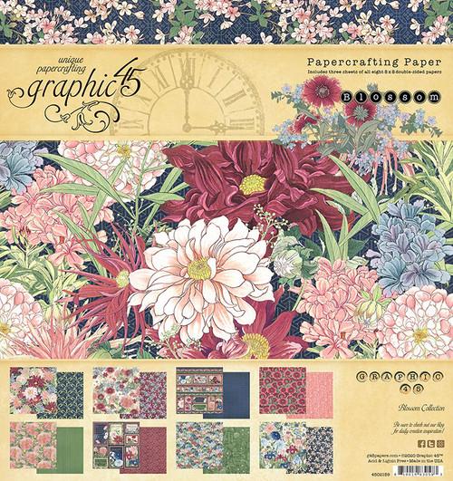 "Graphic 45 Blossom 8"" x 8"" Paper Pad"