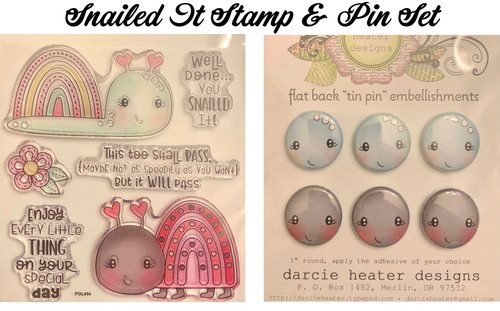 Darcie's Heart & Home Snailed It Stamp & Pin Set