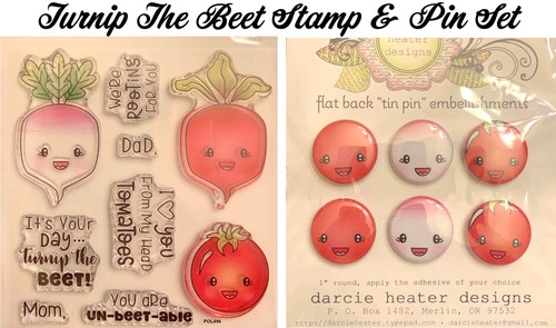 Darcie's Heart & Home Turnip The Beet Stamp & Pin Set
