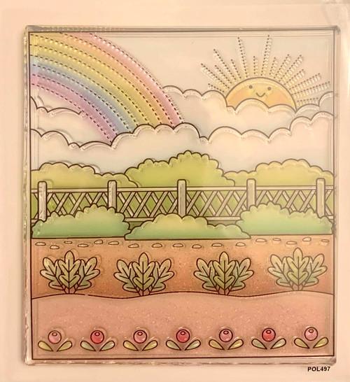 Darcie's Heart & Home Garden Scene Stamp Set