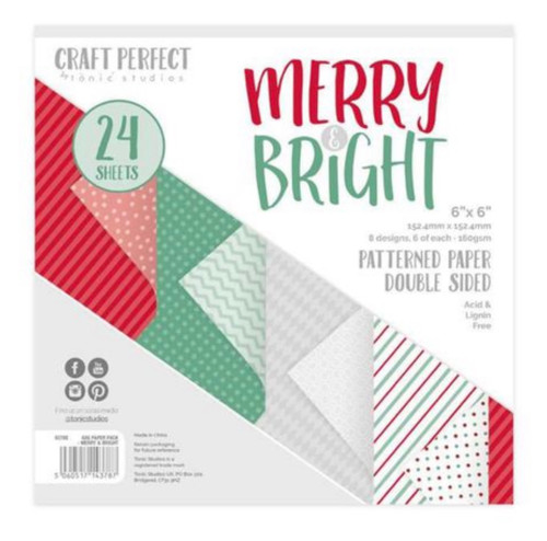 Tonic Craft Perfect Marry & Bright 6 x 6 Mixed Card Pack