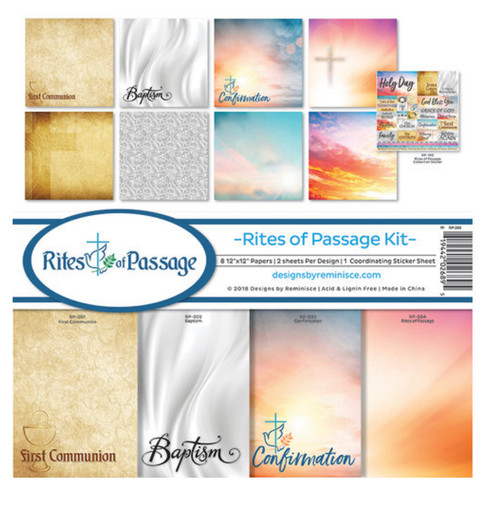 Reminisce Rights of Passage Kit Paper Pack