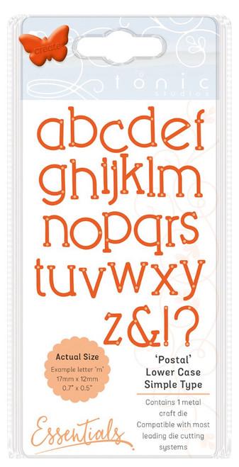 Tonic Studios Essentials Simple Type Dies Postal Font Lower Case
