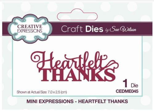Creative Expressions Mini Expressions - Heartfelt Thanks