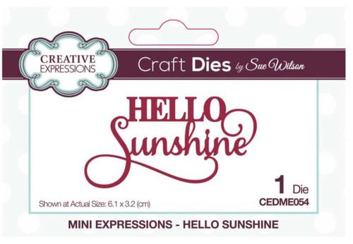 Creative Expressions Mini Expressions - Hello Sunshine