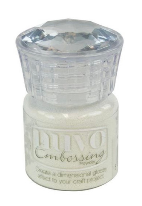 Nuvo Glitter Embossing Powder Glacier White