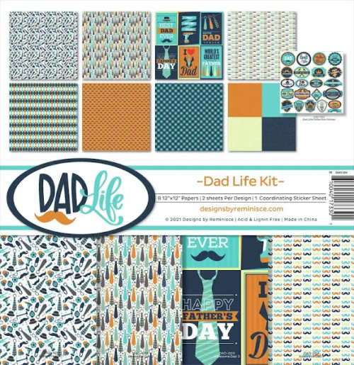 Reminisce Dad Life Kit Paper Pack
