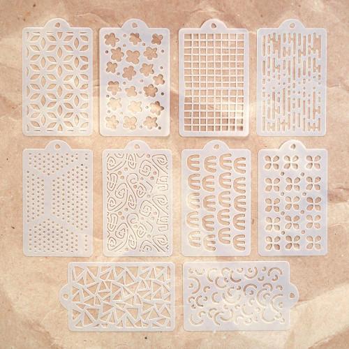 Elizabeth Craft Designs Happy Patterns Stencils Set of 10