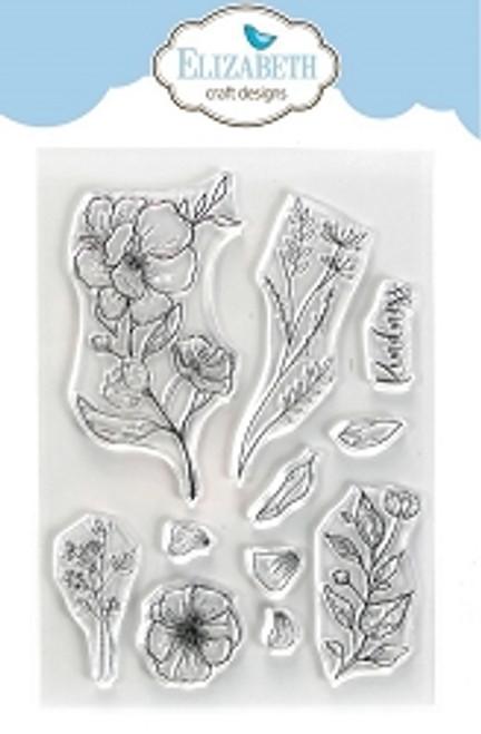Elizabeth Craft Designs Kindness Beautiful Blooms Stamp Set