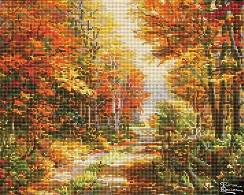 Diamond Dotz Thomas Kinkade A Walk Down Autumn Lane