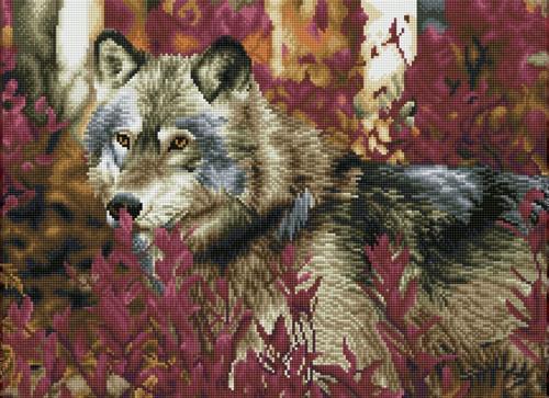Diamond Dotz SQUARES Autumn Wolf