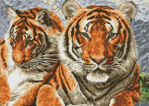 Diamond Dotz SQUARES Tigers